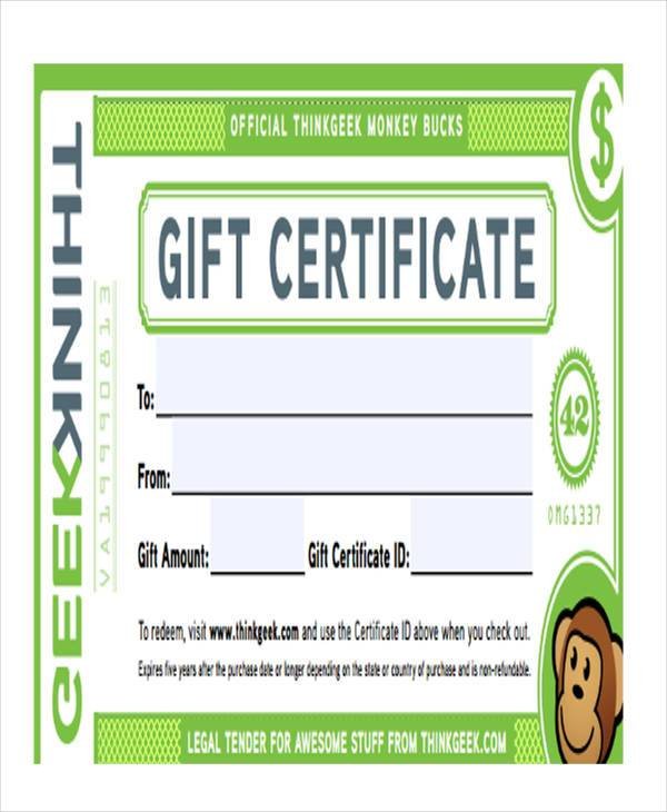 fillable gift certificate form