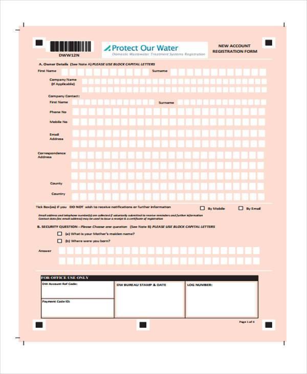 fillable registration form in pdf