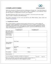 financial regulator complaint form1