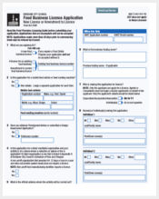 food business licence application form