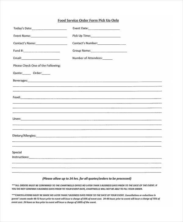 Food-Service-Order-Form T Shirt Order Form In Word on create order form in word, order form templates for word, shorts order form in word, t-shirt template for word, shirt order form template word,