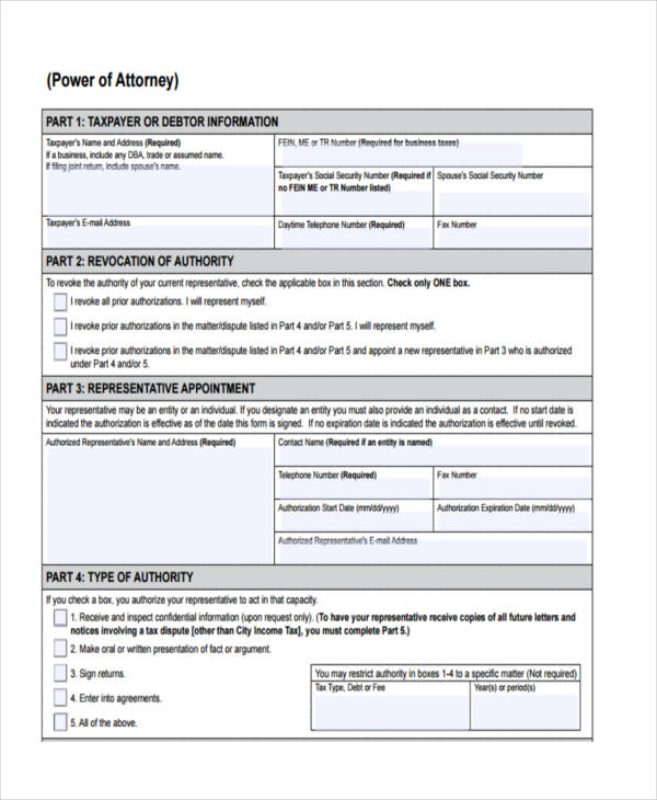 Accomplished image throughout free printable power of attorney forms