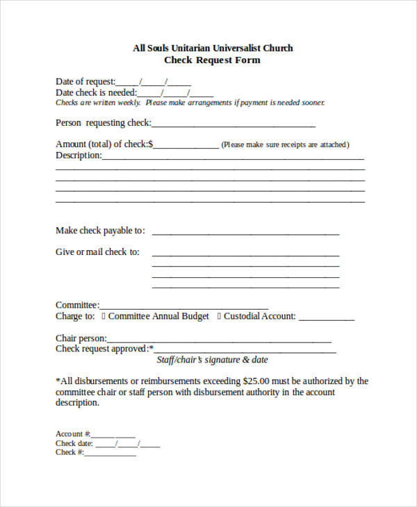 free check request form