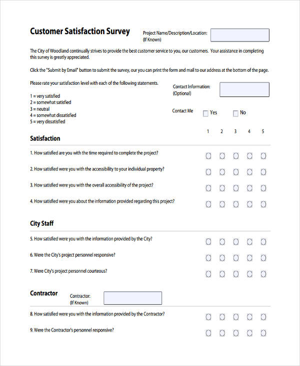 customer satisfaction survey form pdf