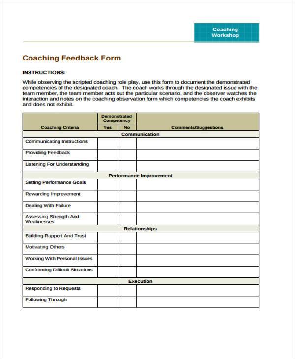 free feedback form