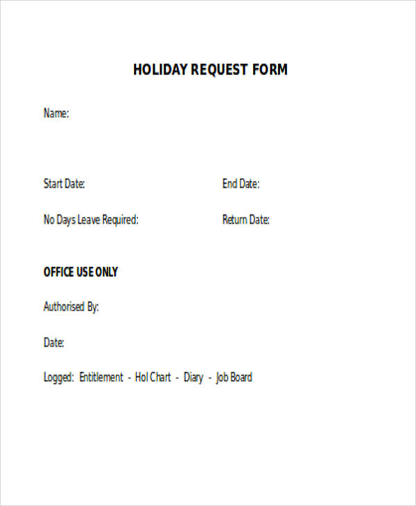 Request Form In Excel