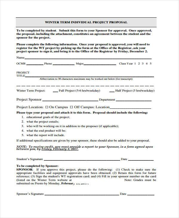 Sample Free Proposal Forms 36 Free Documents in Word PDF – Free Proposal Forms