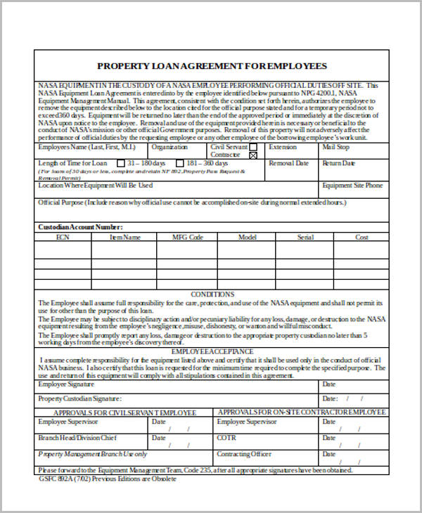free loan agreement contract1