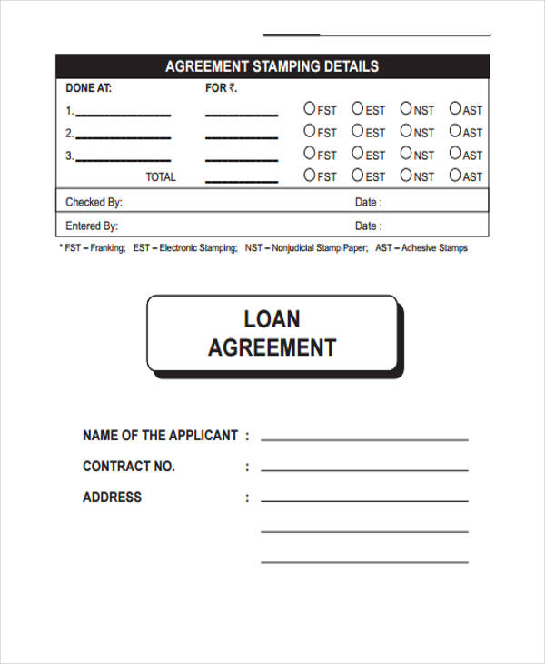 free loan agreement