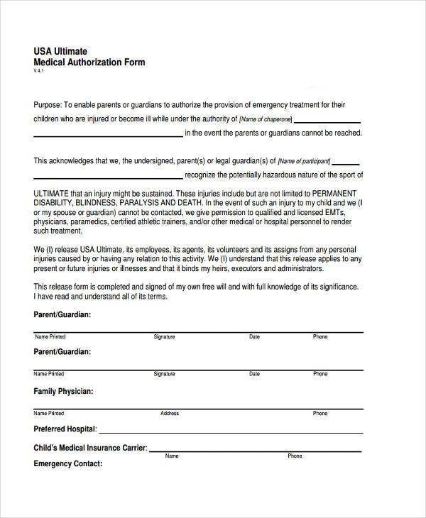 medical consent form for child while parents are away - Mersn ...