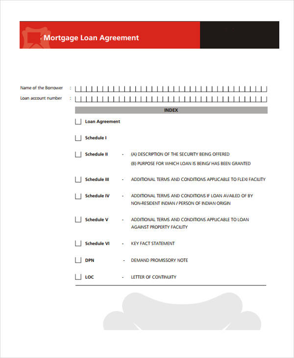 free mortgage loan agreement pdf