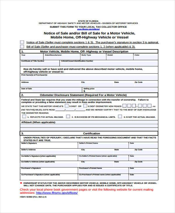 free motorcycle bill of sale form1