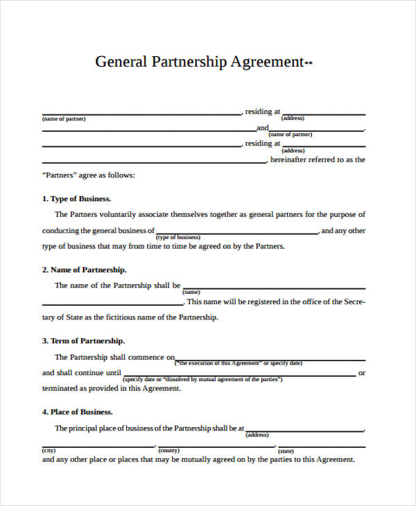 Free 42 Business Agreement Form In Template Pdf
