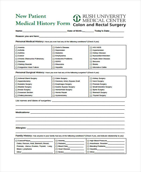 Medical Forms Template  BesikEightyCo
