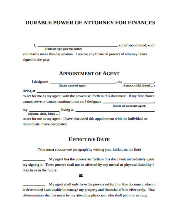 graphic about Free Printable Durable Power of Attorney Form named Free of charge 23+ Electrical power of Legal professional Variety within just Templates PDF