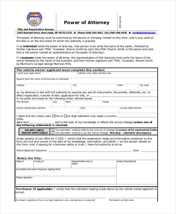 Power of attorney form free printable power of attorney accmission Images