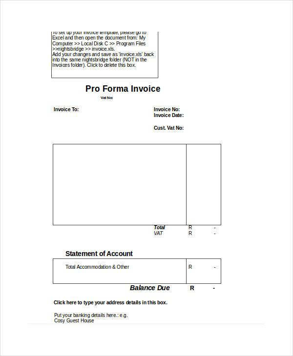 free proforma invoice form1