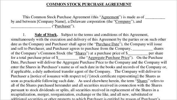 Free 22 Free Purchase Agreement Forms Pdf