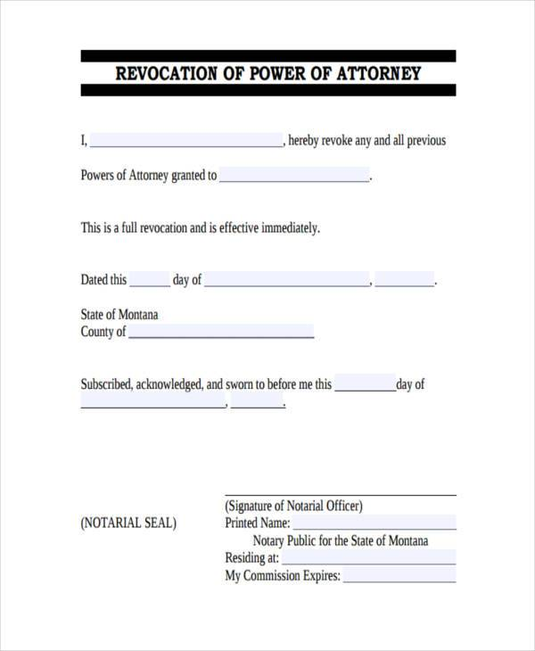 Dynamite image in free printable revocation of power of attorney form