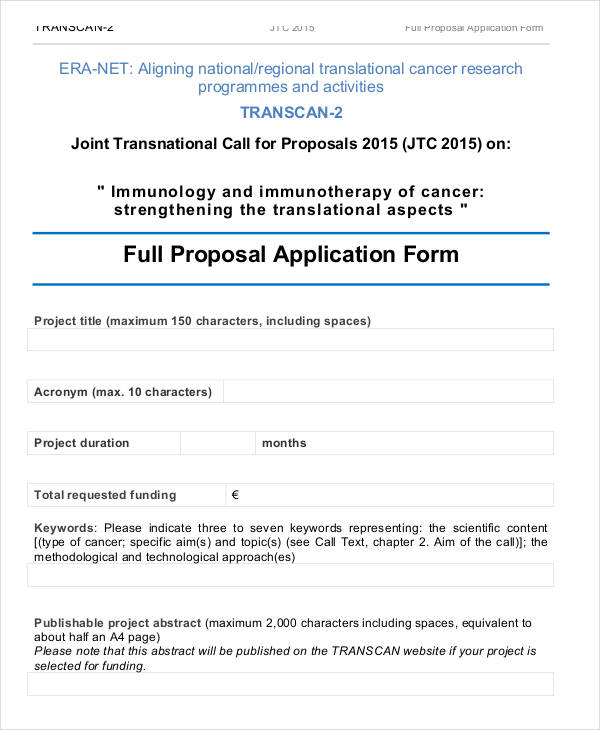 full proposal application form pdf