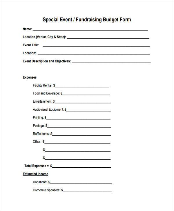 fundraising event budget form2