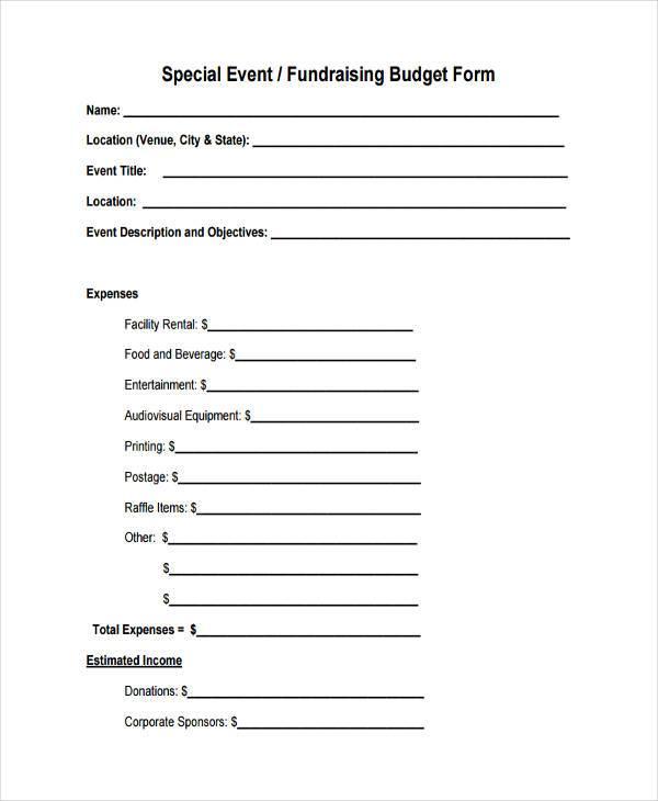 fundraising event budget form3