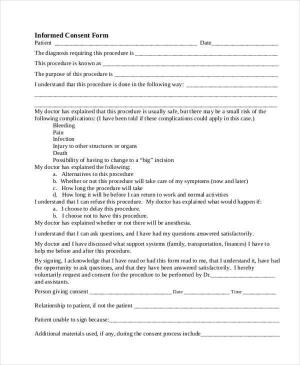 general informed consent form