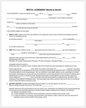 general month to month rental agreement form