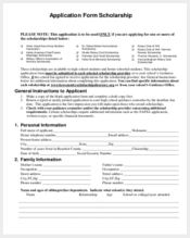 general scholarship application form1