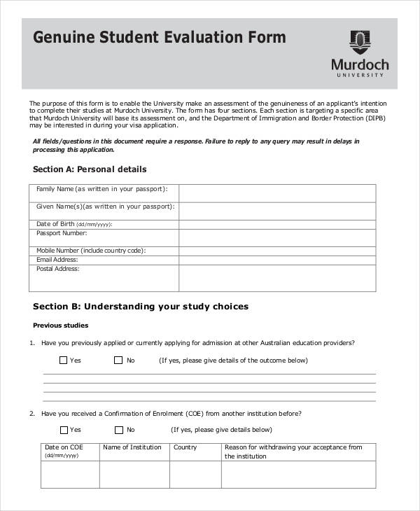 genuine student evaluation form1