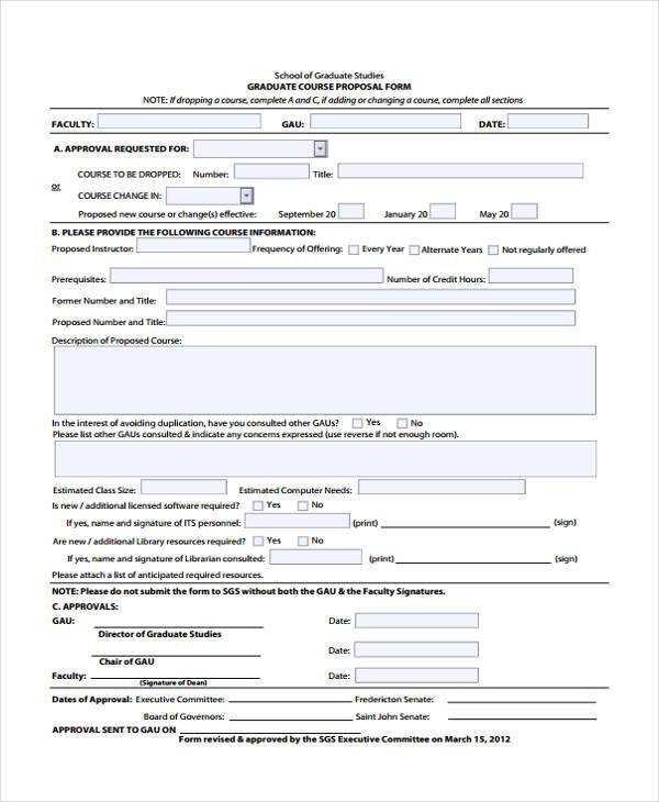 graduate course proposal form
