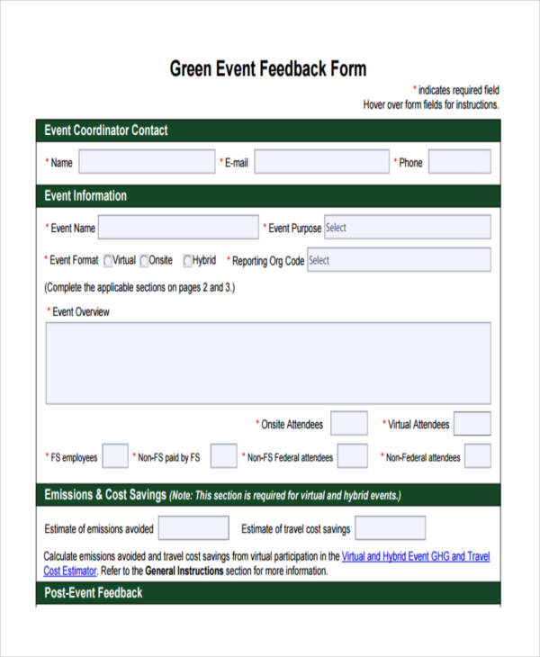 green event business