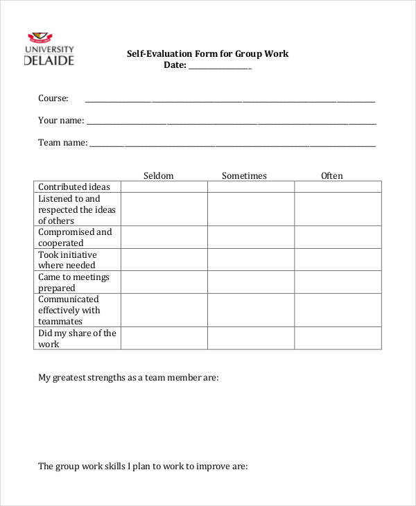 group work self evaluation form1