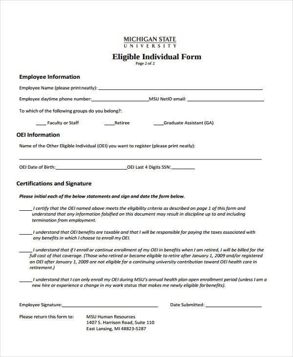 8 HR Registration Form Samples Free Sample Example Format Download – Employee Registration Form