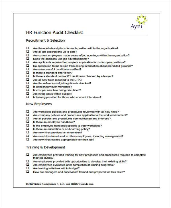 Sle audit report template 28 images audit report for Sample hr audit report template