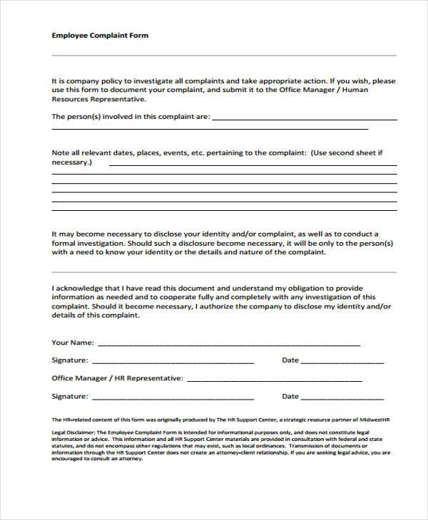 hr complaint investigation form1