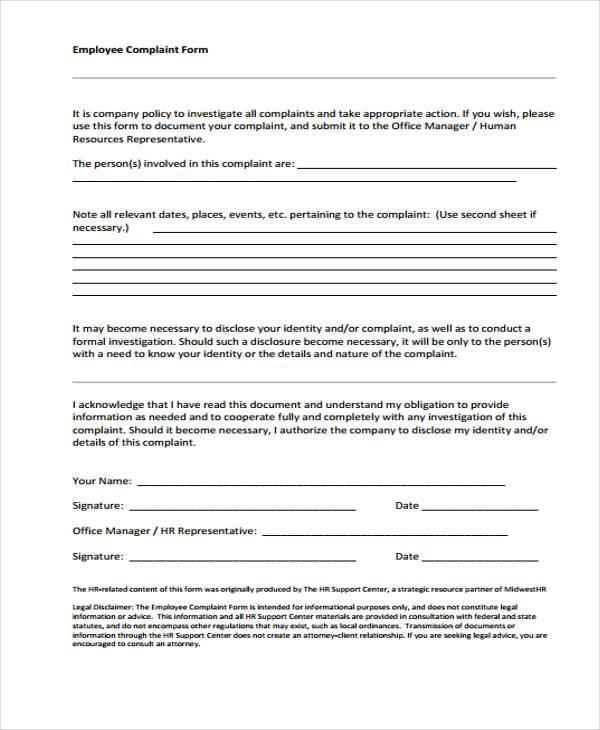 29 HR Form Templates – Hr Form