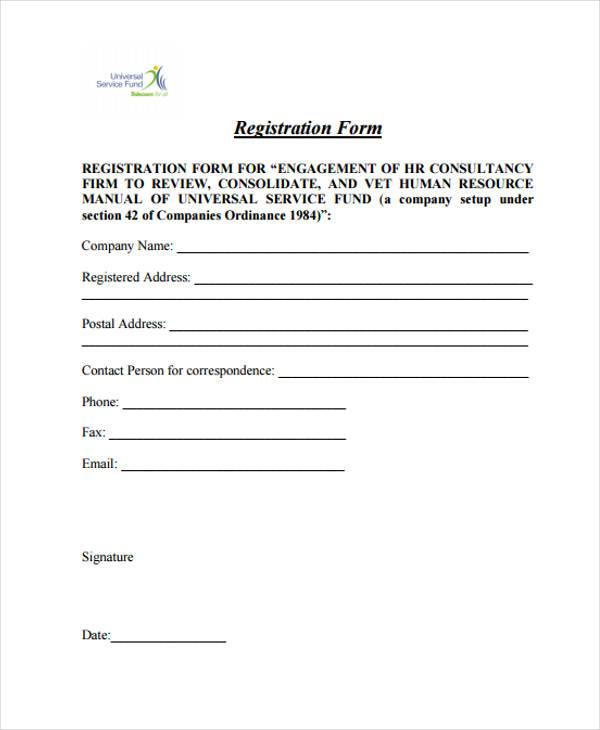 hr consultancy registration form1