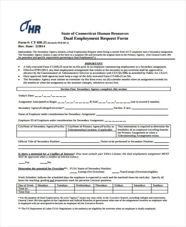 hr information request form1
