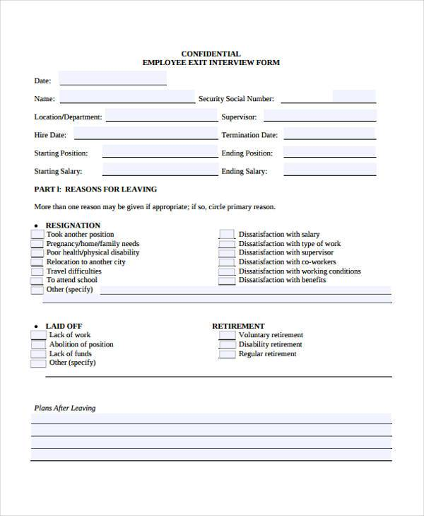 hr interview form in pdf
