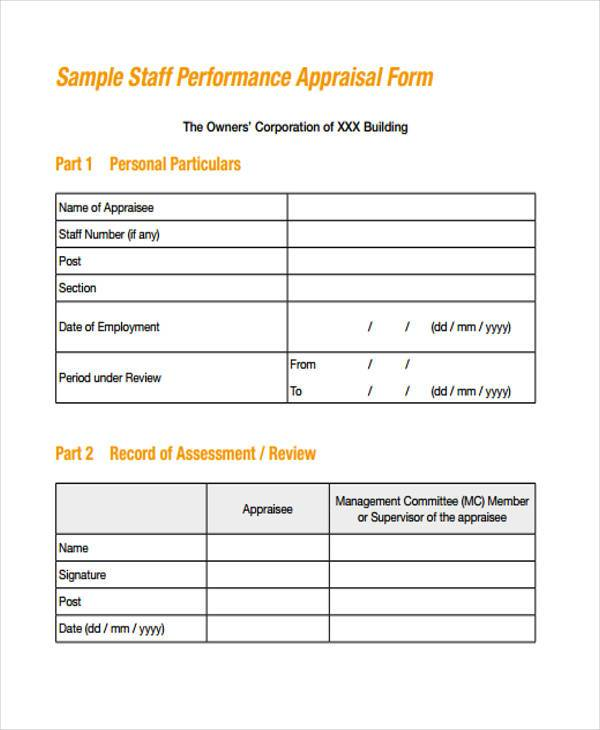 hr staff appraisal form1
