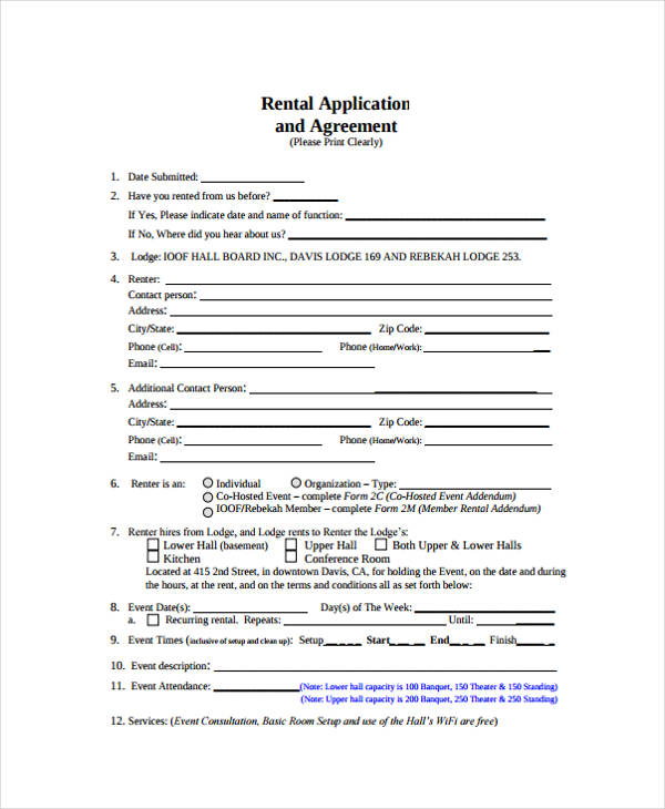 hall rental agreement form1