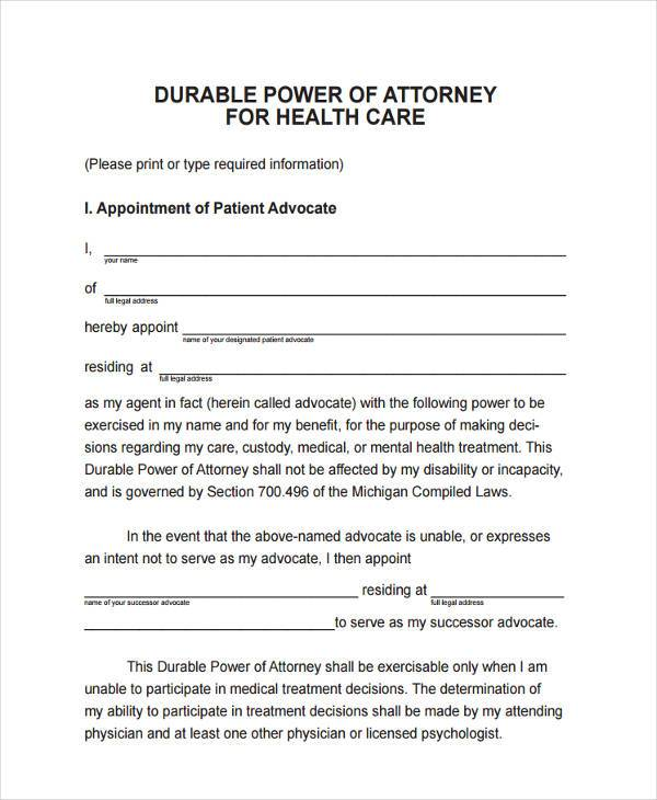 Limited Power Of Attorney Form Real Estate Michigan - Best