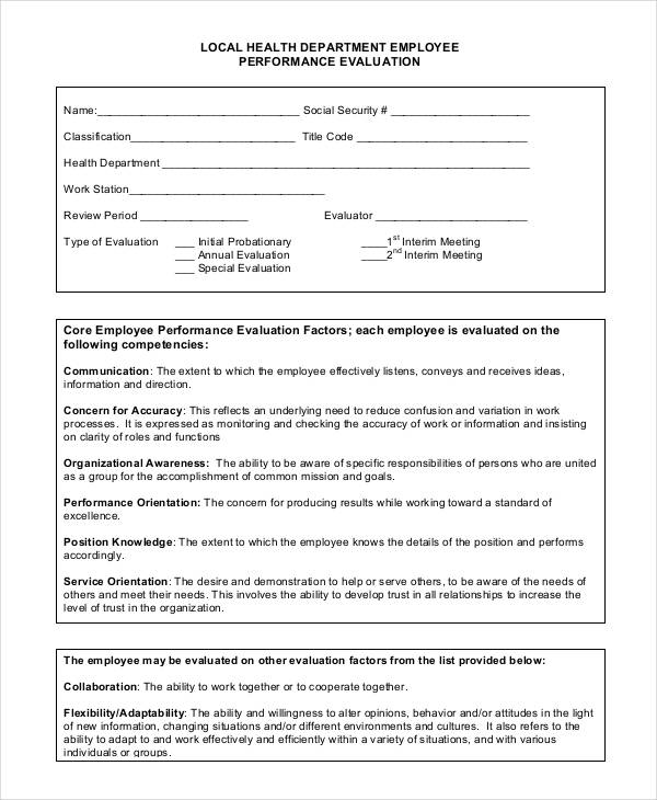 evaluation of employee performance in wockhardt Revised hr 2-11 new employee performance evaluation form (page 1 of 3) employee name job title date hired supervisor dept time in job.