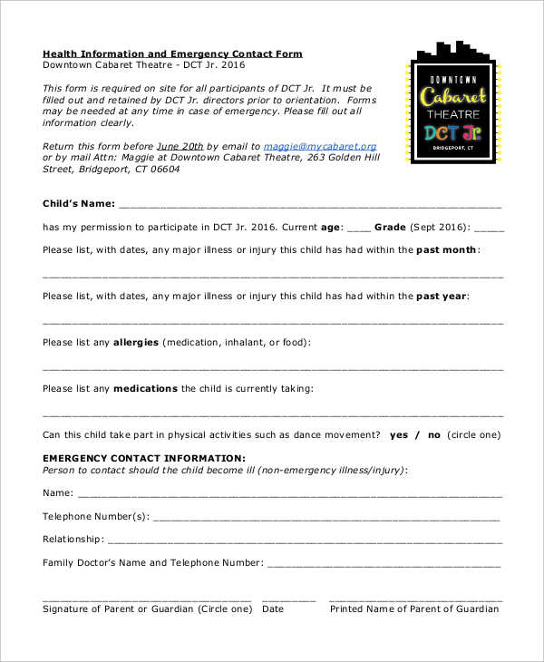 health information emergency contact form1