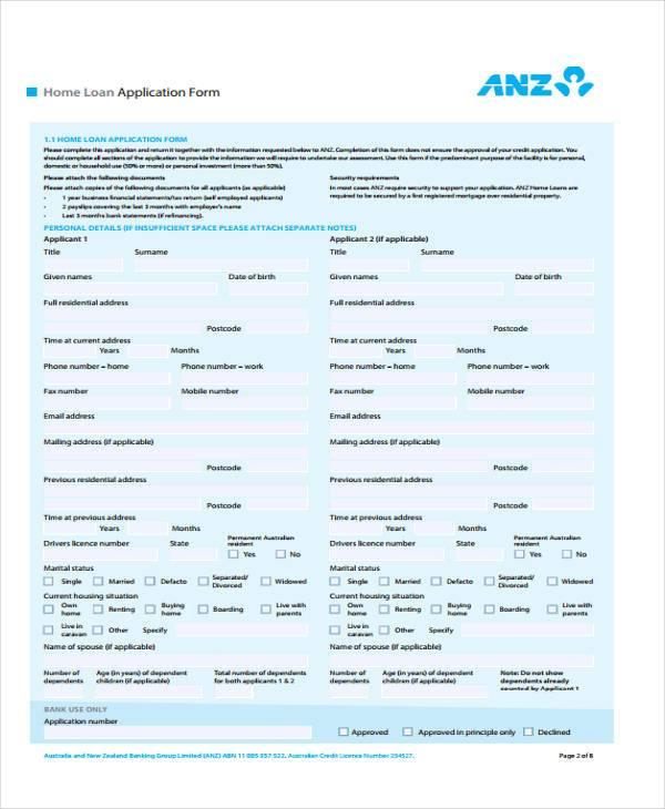 home loan application form2