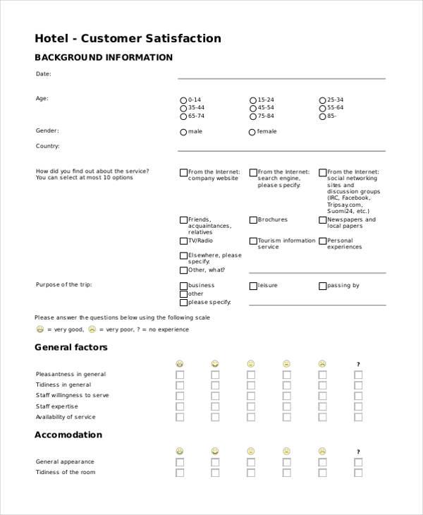 hotel customer service feedback form1