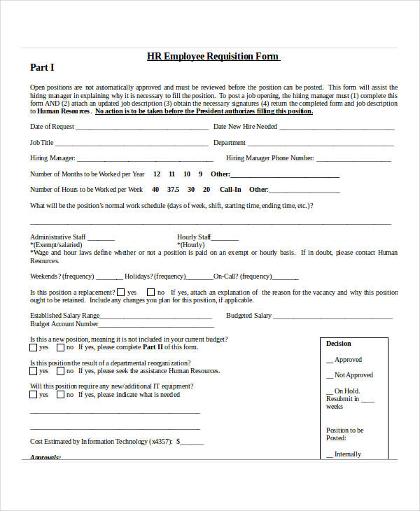 32 requisition forms in doc hr employee requisition form4 thecheapjerseys Choice Image