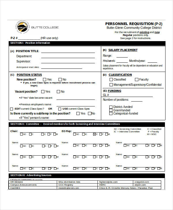 hr personnel requisition form3