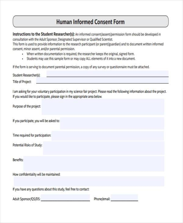 Consent Form Templates – Informed Consent Form